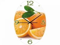 """Настенные стеклянные часы """"Апельсиновый фреш"""" Your Time"""