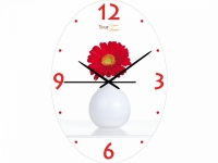 "Настенные стеклянные часы ""Гербера"" Your Time"
