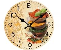 """Часы настенные кухонные """"Корица"""" Your Time"""