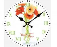 """Настенные стеклянные часы """"Цветы"""" Your Time"""