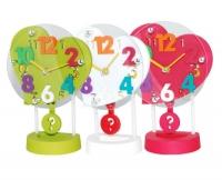 """Настольные часы для детской комнаты с маятником """"Сердце"""""""