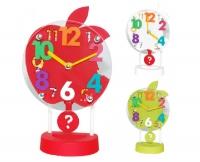 """Настольные часы для детской комнаты с маятником """"Яблоко"""""""