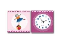 """Настенные детские часы на холсте """"Балерина"""""""