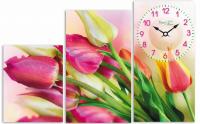 """Картины часы """"Тюльпаны"""""""