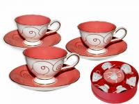 """Сервиз чайный """"Розовый коралл"""""""