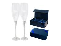 """Свадебный набор бокалов для шампанского """"Спираль"""""""