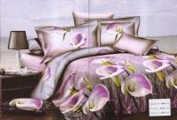 """Полуторное постельное белье, 3D """"Фиалковая композиция"""""""