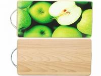 """Кухонная буковая разделочная доска """"Яблоки зеленые"""""""