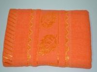 """Лицевое махровое полотенце """" Оранжевое"""""""